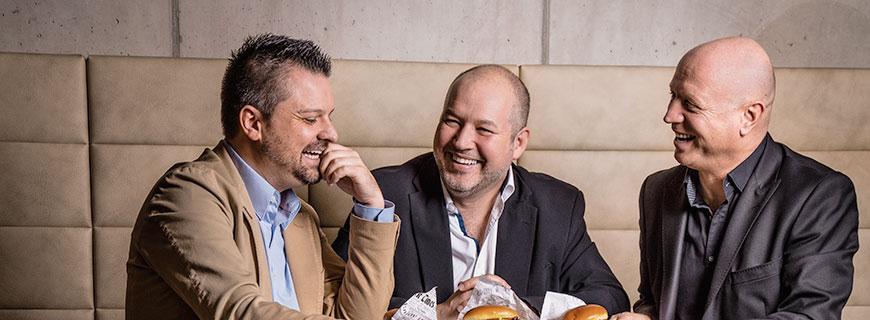 Denis Gasparac (m.), René Einöder-Vida (l.) und Gerhard Nachbagauer wissen, was schmeckt.