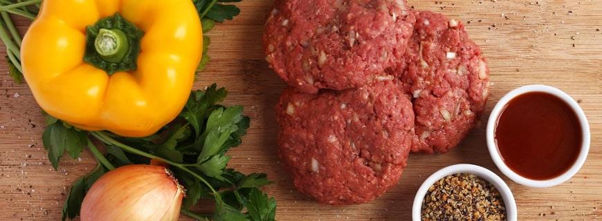 Fleisch-Patties auf pflanzlicher Basis