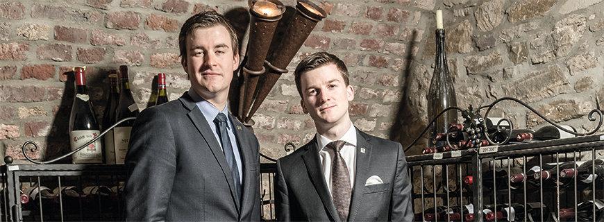 Vendôme-Sommelier Marco Franzelin und Maître Markus Klaas im Weinkeller