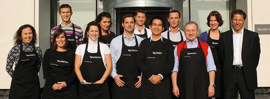 Das Team des Nespresso Coffee Sommelier Programms
