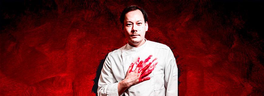 Max Aichingers blutverschmierte Hand