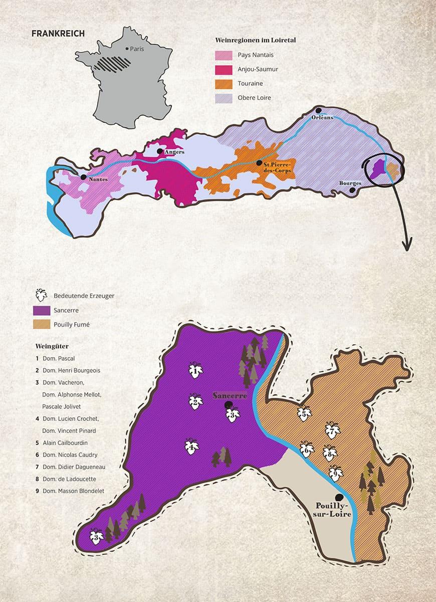 Weinkarte Loire