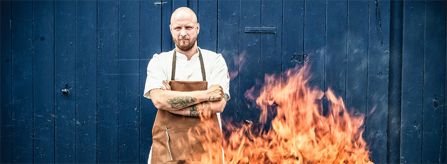 Grillmeister in Flammen