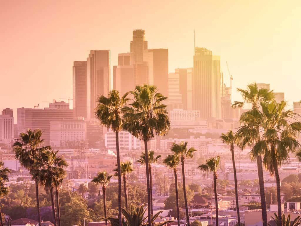 Sonnenuntergang: Los Angeles ist berühmt für das rosarote Licht.