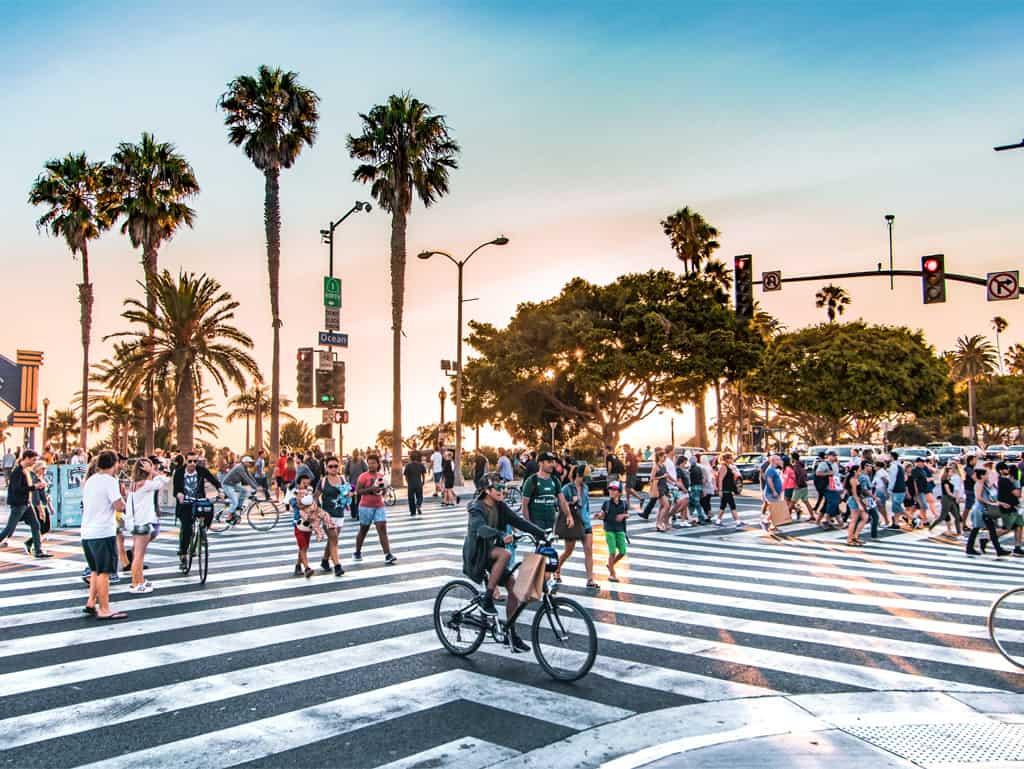 Wo immer die Sonne scheint: Los Angeles ist die größte Stadt Kaliforniens.