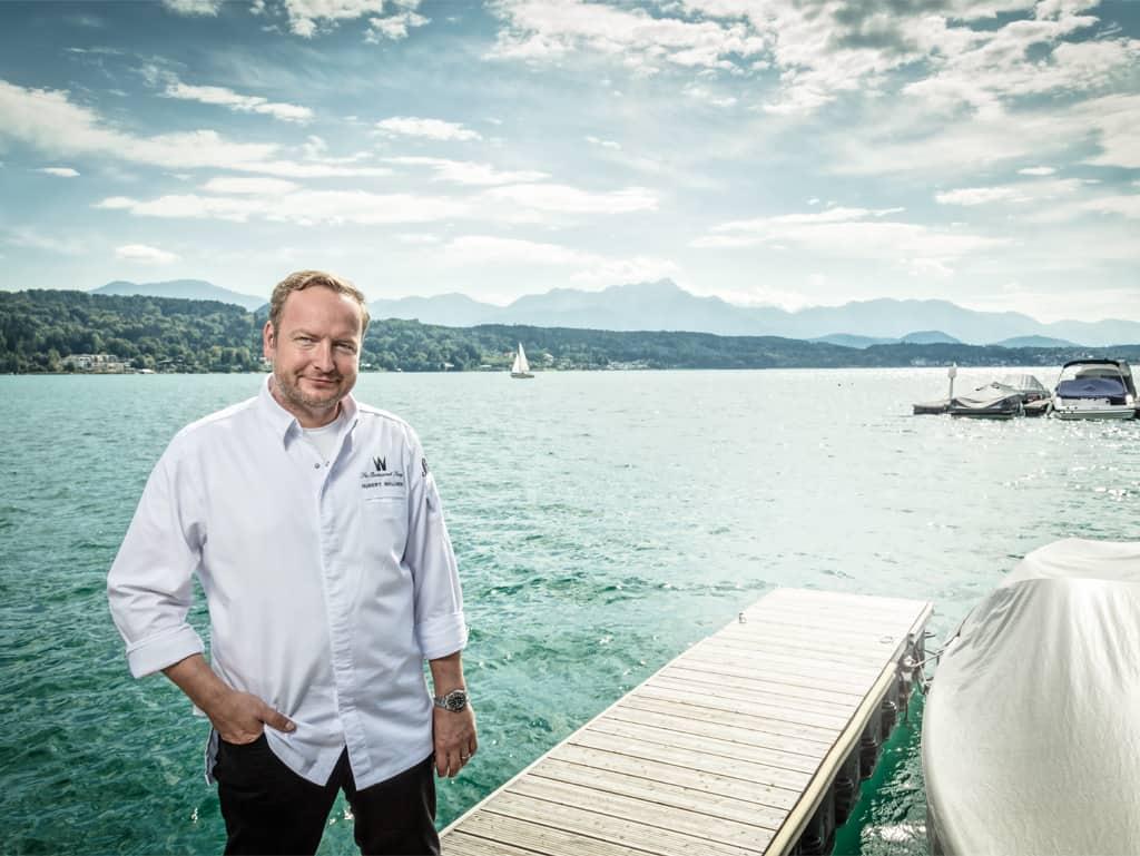 Der Mann und der See: Hubert Wallner fühlt sich in Kärnten pudelwohl und denkt nicht daran, woanders hin zu gehen.