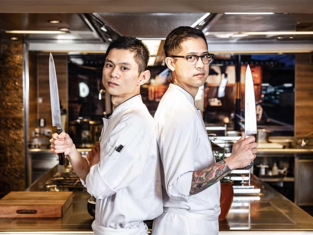 Sie sind die Meister der (offenen) Küche des Nikkei Nine: Ben Dayag (re.) ist der viel gereiste Executive Chef und kommt ursprünglich von der amerikanischen Westküste.
