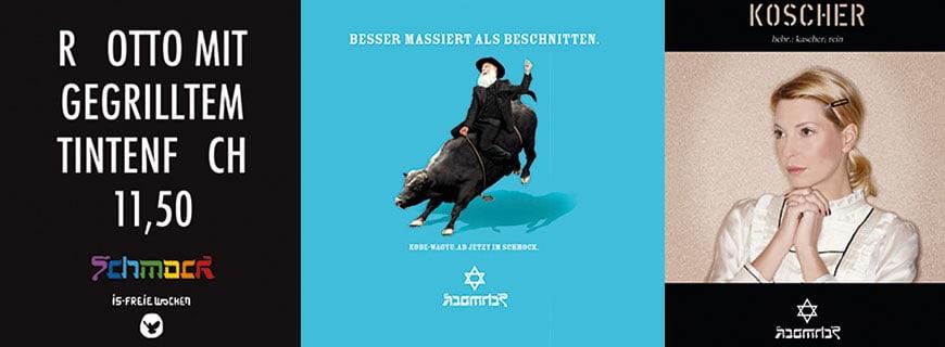 Das Restaurant Schmock wirbt mit einer provokativen Werbung bezüglich Juden