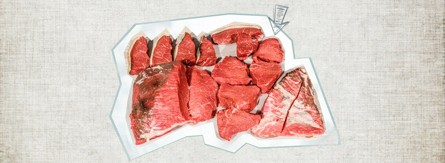 Bratenstücke vom Rind
