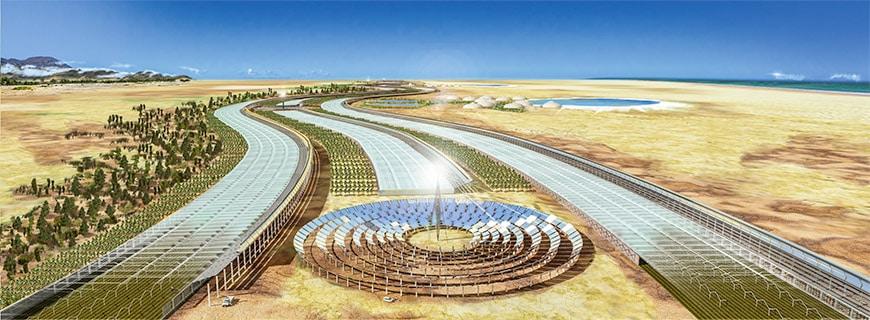 Was passiert, wenn das Wasser ausgeht? Nur mit Sonnenenergie und Meerwasser wollen Londoner Wissenschaftler das Seawater Greenhouse zum Laufen bringen.