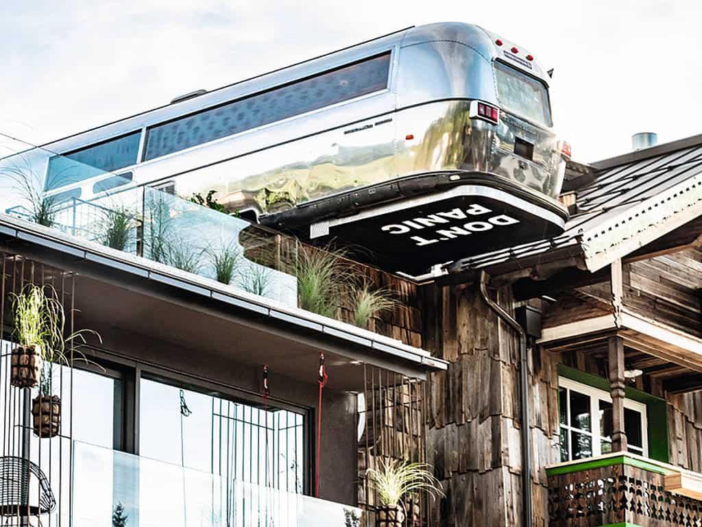 inklusive Wohnmobil am Dach