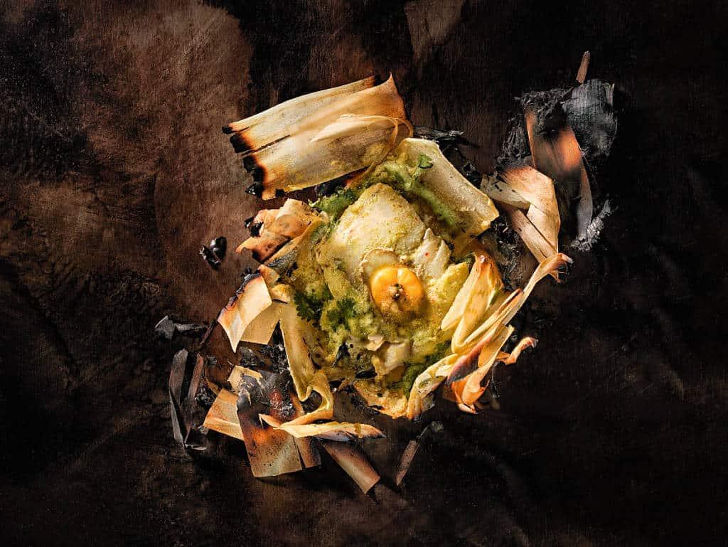 Fish Paturi: Riecht gut, schmeckt gut – bei Gaggan braucht man kein Besteck zum Essen.