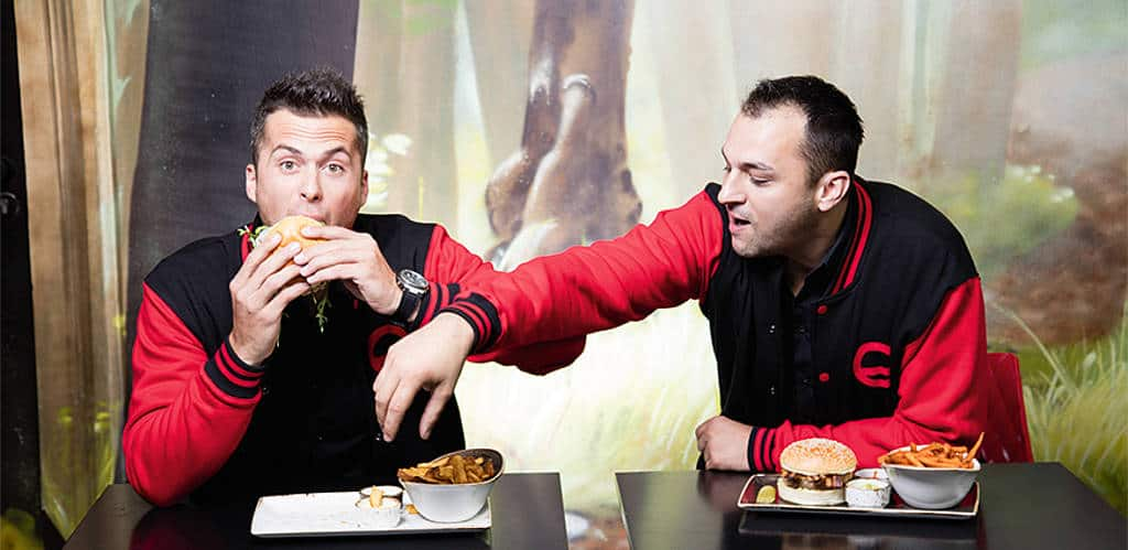 Burger de luxe: Christoph Feilhofer, Andreas Hammer und ihr Dry-aged-Beef im Freigeist