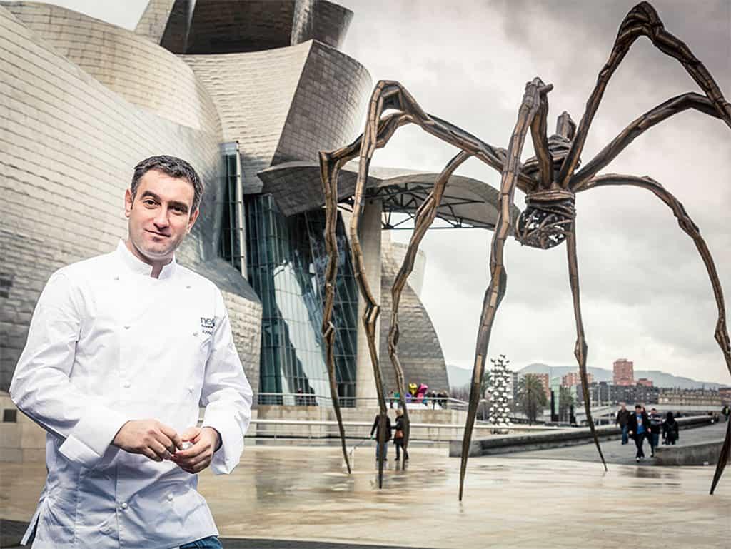 Josean Alija aus dem Restaurant nerua im Guggenheim Museum zählt zu den besten Köchen Spaniens