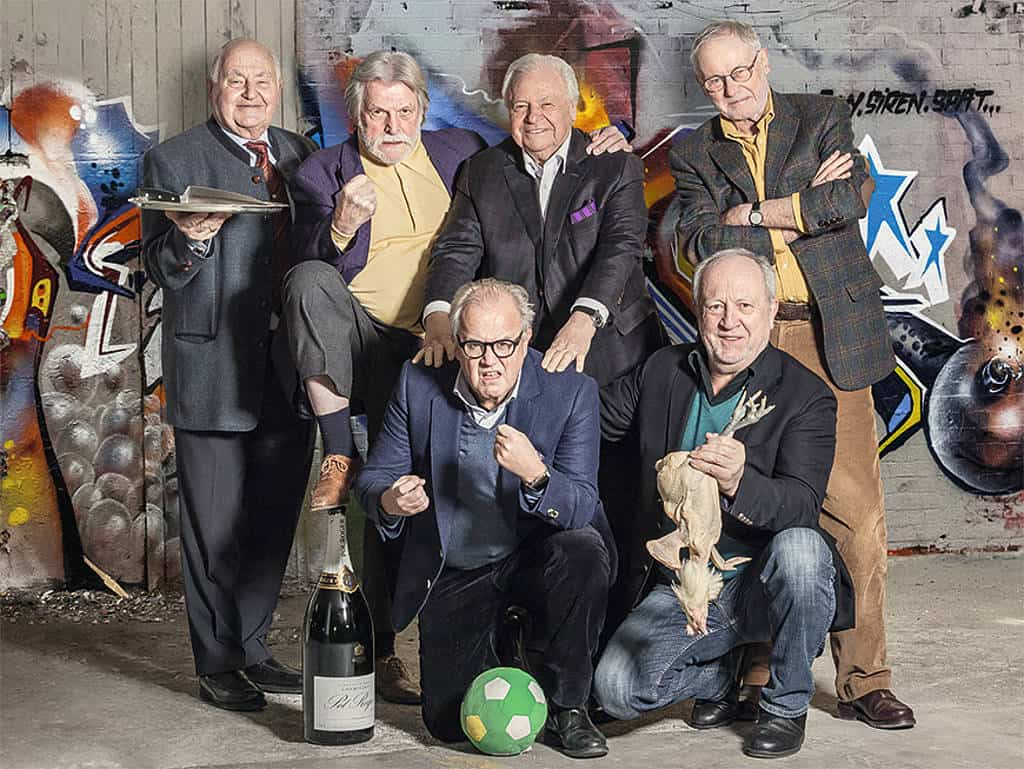 Eckart Witzigmann, Otto Koch, Dieter Biesler, George Kastner, Peter Kluge, Fritz Keller und Hans-Peter Wodarz.