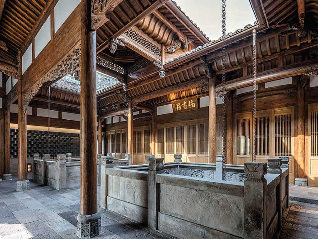mystische Kulisse: traditionelle chinesische Baukunst
