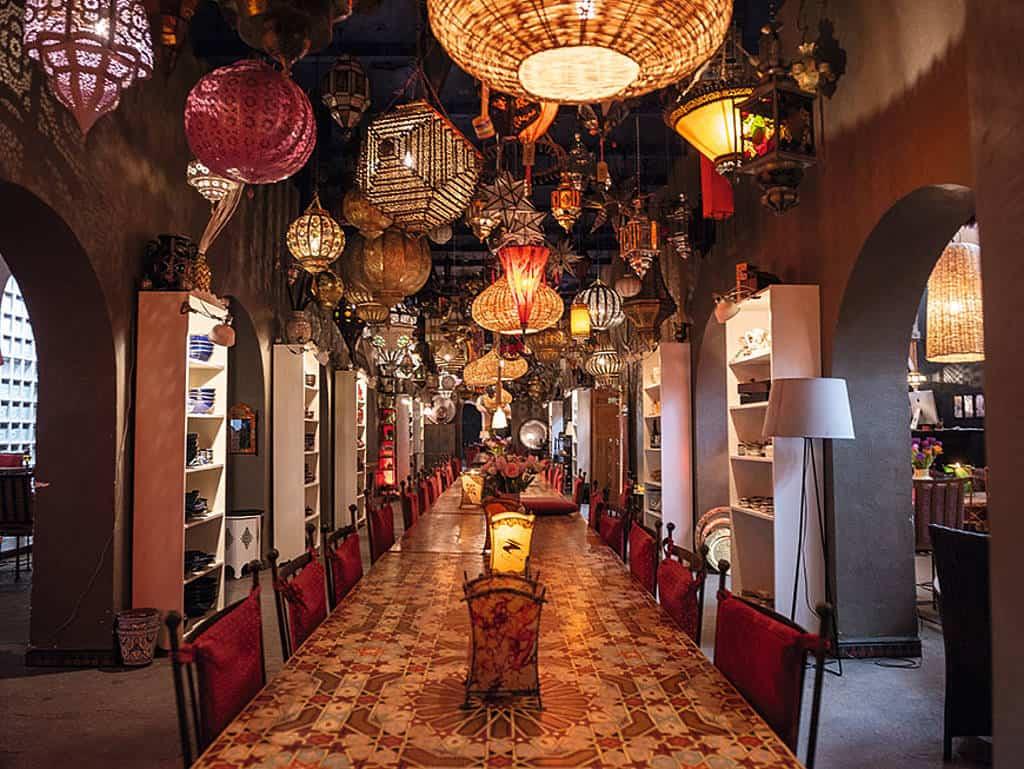 Im Le Marrakech kann man Interieur, das einem gefällt, auch kaufen und mit nach Hause nehmen