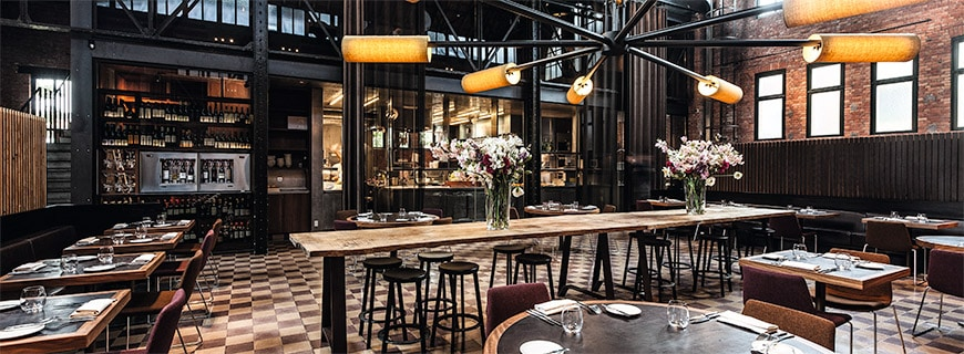 Interieur des Restaurant Volta in Gent