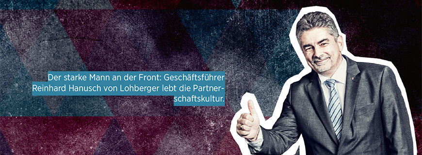 Porträt von Reinhard Hanusch, Geschäftsführer von Lohberger