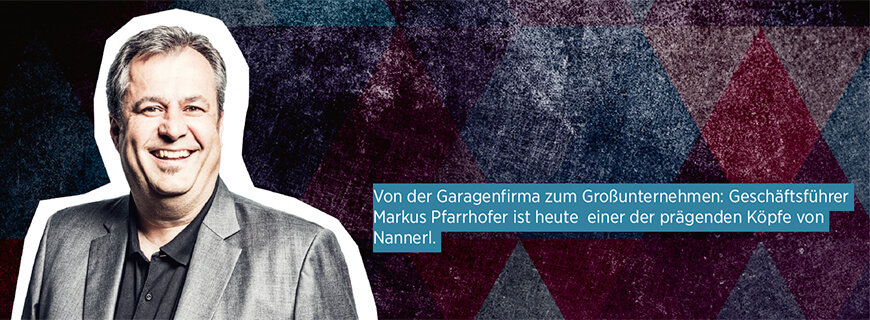 Porträt von Nannerl-Geschäftsführer Markus Pfarrhofer