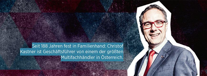 Porträt von Christof Kastner, Geschäftsführer des Familienbetriebs Kastner.