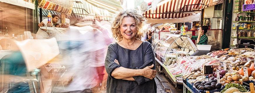 Haya Molcho am Naschmarkt in Wien