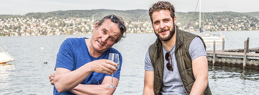 Ein bisschen schräg: Michel Péclard und Florian Weber
