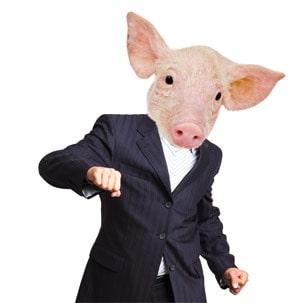 ein Schwein im Anzug