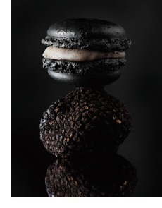 schwarze Macarons