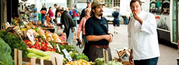 Mirko Reeh am Bauernmarkt