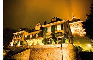 Schlosshotel Lerbach bei Nacht