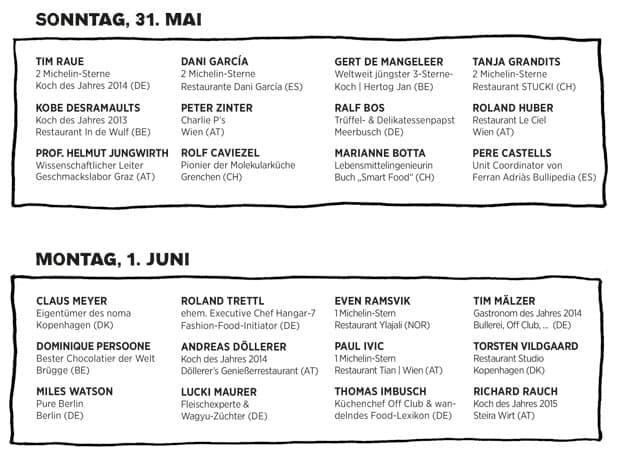 Timetable der Chefdays