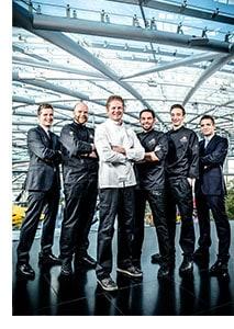 Martin Klein und die Hangar 7 Crew
