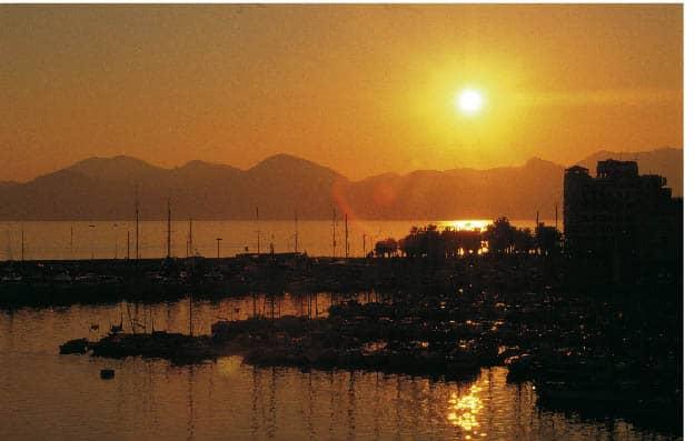 Sonnenuntergang über der Cote d`Azur