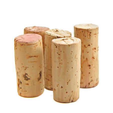 ein Detailbild von Weinkorken