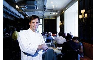 Joachim Gradwohl in seinem Restaurant