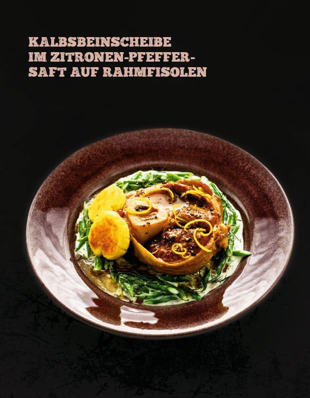 Kalbsbeinscheibe im Zitronen-Pfeffersaft