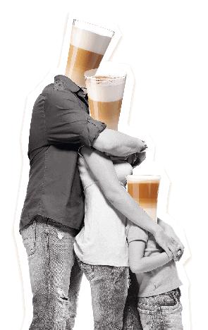 Die Latte-Macchiato-Familie