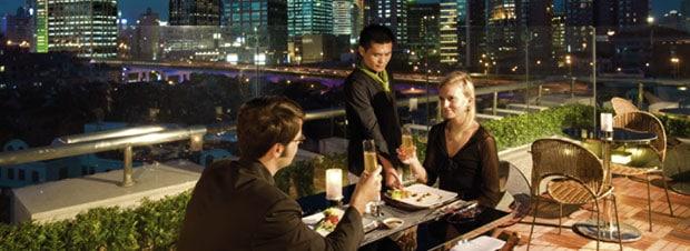ein Rooftop Restaurant in Shanghai