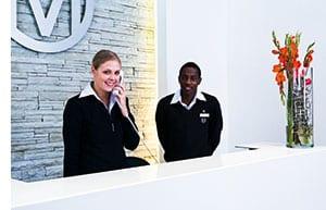 Rezeptionspersonal in Südafrika