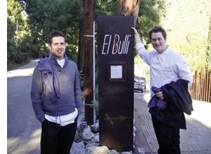 Das elBulli Logo mit zwei Mitarbeitern