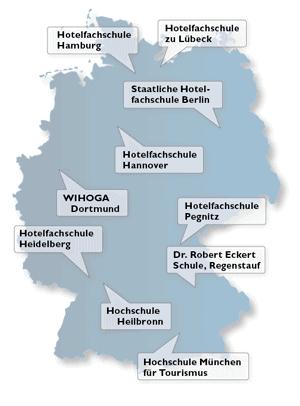 Grafik der Hotelfachschulen in Deutschland
