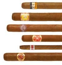 unterschiedliche Laengen, Breiten und Sorten von Zigarren