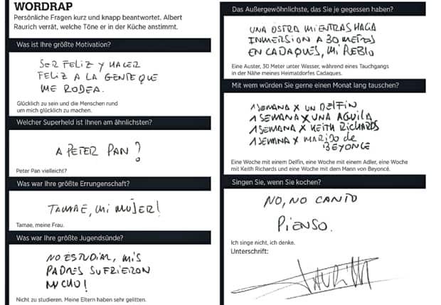Wordrap mit Ferran Adrià