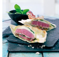 Gebratenes Tuna-Sandwich mit Mozzarella