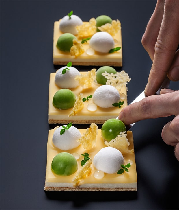Limette, Basilikum, Parmesan