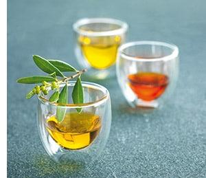 drei verschiedene Olivenölsorten