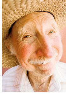 das Altbier in Form eines alten Herren mit weissen Haaren
