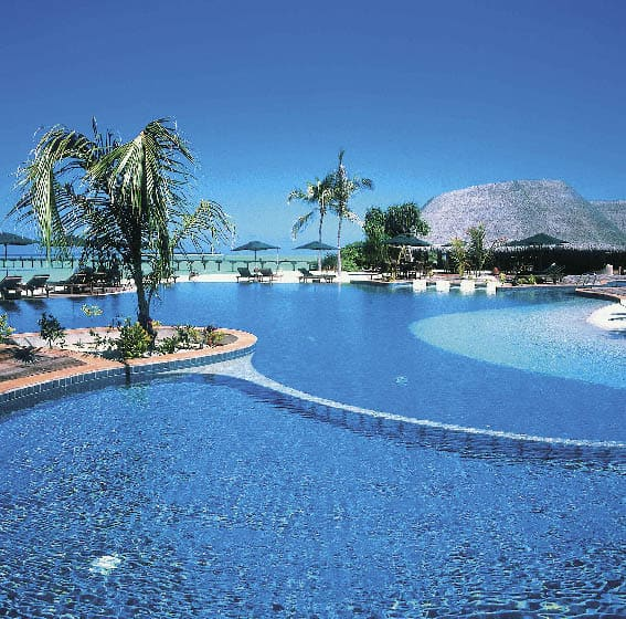 Poollandschaft des Atlantis in Dubai