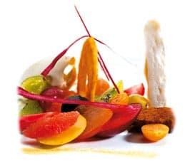 eine Palette von kulinarischer bunter kreativität